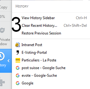 Print screen for deleting browser history in Firefox step 3