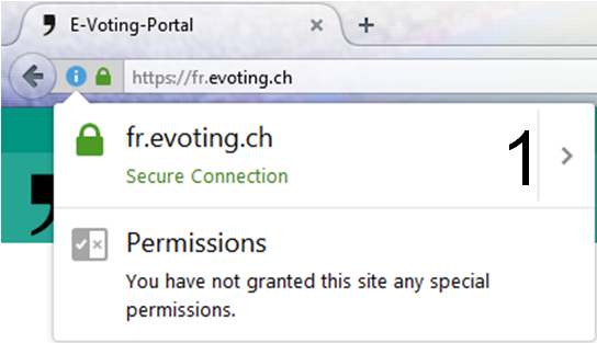 Print screen for certificate authentication in Firefox Explorer step 1